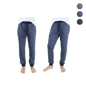 Mens Slim Fit Marled Contrast Loungewear Sleepwear Pajama Pants From