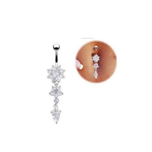 Belly Button Bars Body Piercing Ring Drop Dangle Reverse Eyebrow Navel Bar SH