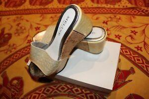 Meline zoccoli sabot sandali scarpe da donna made in Italy pelle come nuove