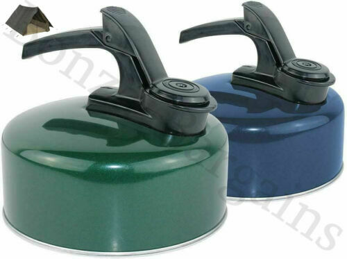 YELLOWSTONE SMALL LIGHT 1 LITRE ALUMINIUM WHISTLING KETTLE CAMPING BLUE GREEN