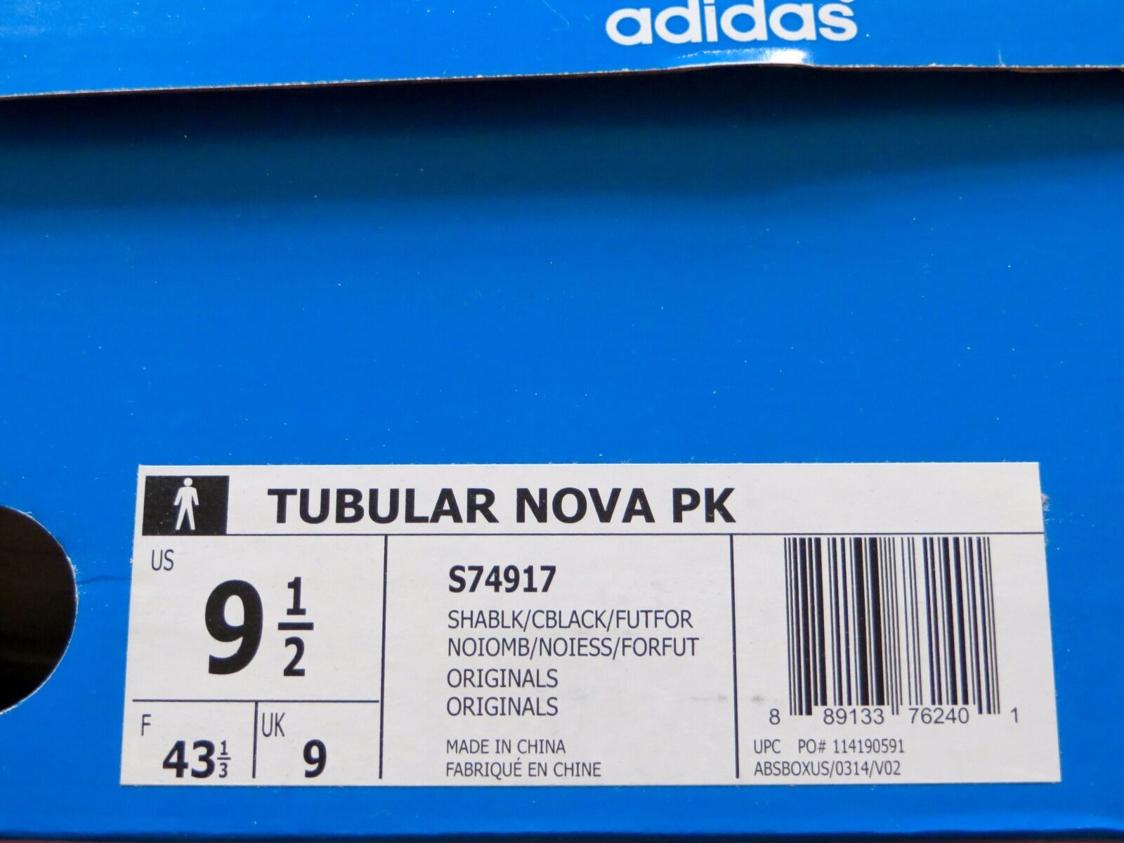 Adidas Adidas Adidas Tubular Nova PK Primeknit Shadow nero Forest S74917 Uomo Dimensione 9.5 794911