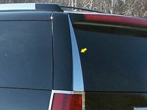 2PC-Stainless-Steel-Rear-Window-Trim-RW47255-For-CADILLAC-ESCALADE-2007-2014