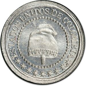 Colombia-1-1-4-centavos-1874-PCGS-MS65-37805086