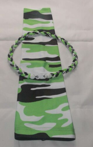 Neon Lime Green Black White Digi Camo Compression Arm Sleeve /& Baseball Necklace