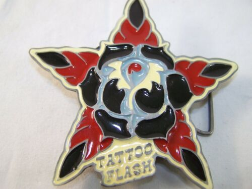 Heavy Metal Buckles Lead Free Tattoo Flash Star Belt Buckle with Lighter
