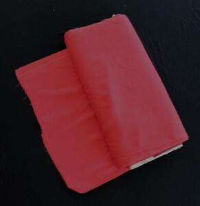 RARE-VINTAGE-1950-039-S-DEADSTOCK-RED-LINEN-LIKE-COTTON-FABRIC-24-YDS-X-38-034-W