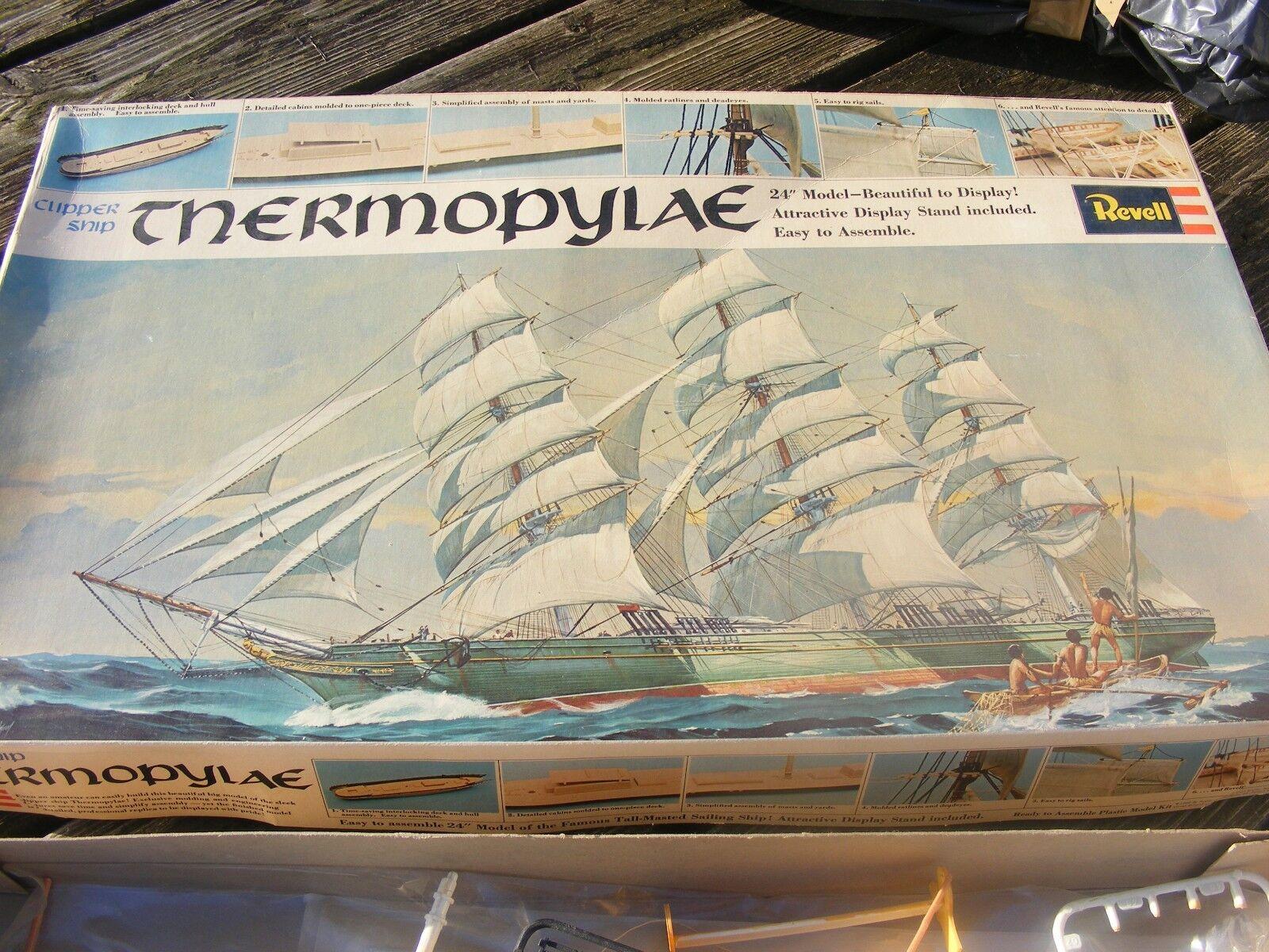 VINTAGE REVELL MODEL KIT THERMODYLAE CLIPPER SHIP