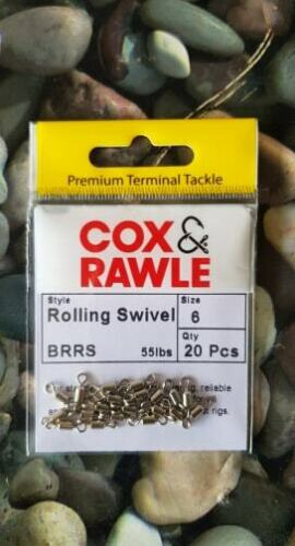 Cox and Rawle Brass rolling swivels size 6-55lb