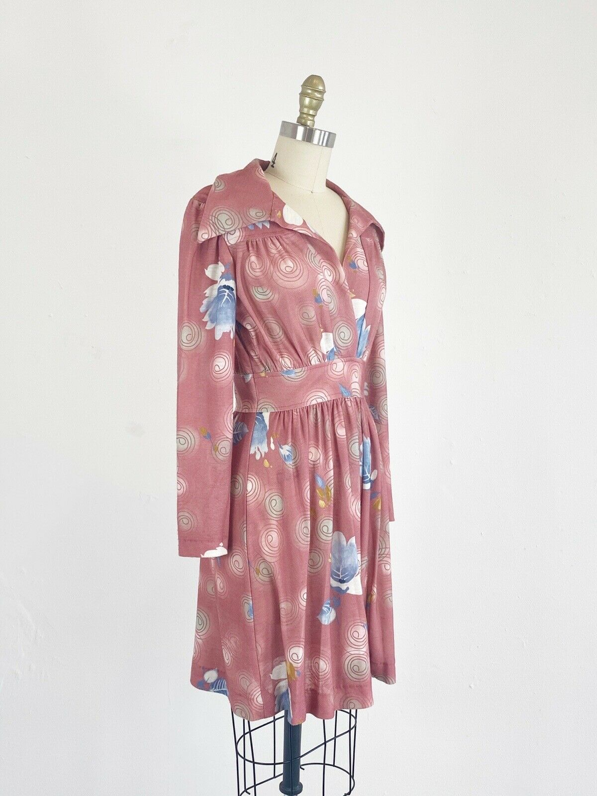 1970s Floral Dress - 1970s Mini Dress - Floral Mi… - image 4