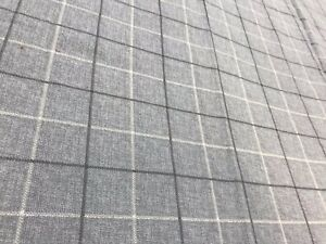 Grey-check-crafts-remnant-fabric-sewing-material-piece-160x50cm