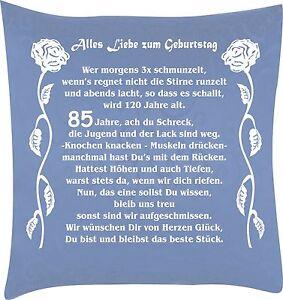 Kissen Zum Geburtstag Mit Super Spruch 65 70 75 80 85 90 Ebay