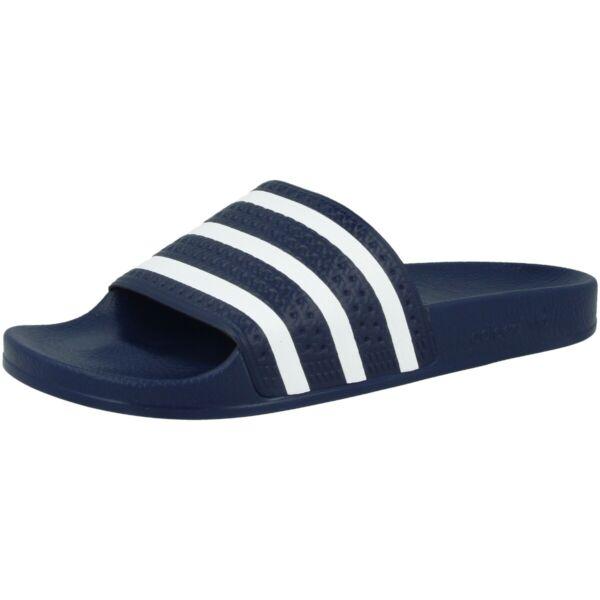 2019 Nuevo Estilo Adidas Adilette Chanclas Baño Zapatos Para Baño Sandalias Zapatos Slides Blue White 288022-ver Rendimiento Superior