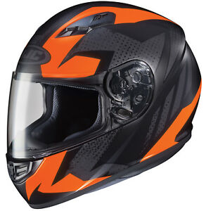 HJC-Adult-CS-R3-Treague-Orange-Black-Full-Face-Motorcycle-Helmet-DOT