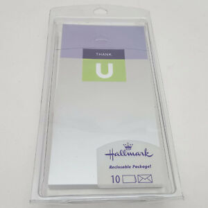 Hallmark-10-Thank-U-Blank-Notes-With-Foil-Lined-Envelopes