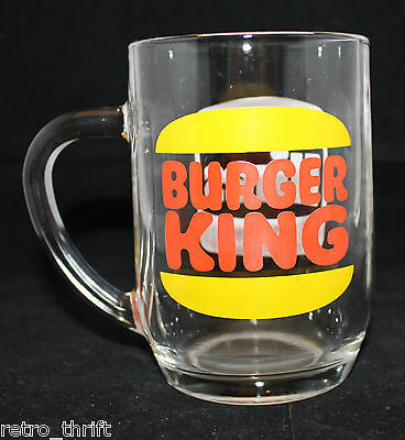 Vintage Burger King Original Hires Root Beer Clear Glass Mug Cup Logo France Ebay
