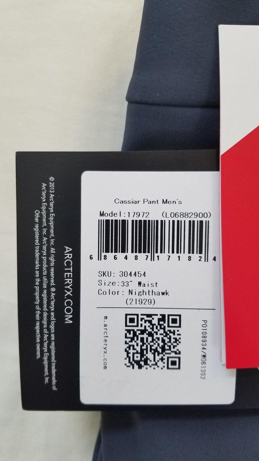e9c1b74e7c Nuovo 2018 Arcteryx Cassiar Pant Uomo Nighthawk M 33 32 304454 ski pants  snowboard