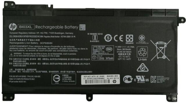 Genuine HP Stream 14-AX 14-CB 14-DS Battery 11.55V HSTNN-UB6W BI03XL 844203-855