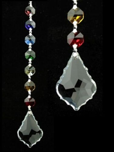 Feng Shui Chakra Kristall Kette Kristall-Blatt Fenster-Deko aus Glas Suncatcher