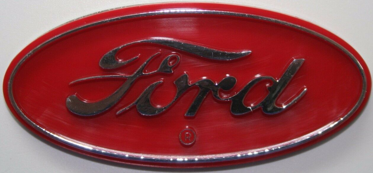 Ford tractor farm red logo field plow new truck auto decal sticker 3d emblem