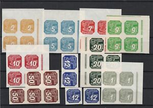 Bohemia-and-Moravia-Mint-Never-Hinged-Newspaper-Stamps-Blocks-ref-22515