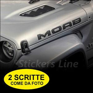 Scritte-MOAB-adesivi-fuoristrada-Jeep-Wrangler-4X4-off-road-LIMITED-EDITION