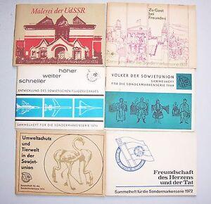 6x-DDR-Markenheftchen-Livret-de-la-Collection-Sondermarkenserie-1969-1972-1976