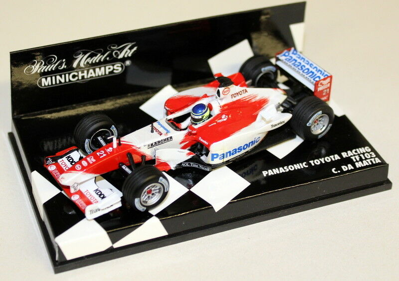 Minichamps 1 43 Scale 400 030021 Panasonic Toyota TF103 Matta Diecast Model Car