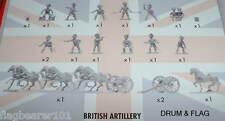 NAPOLEONIC BRITISH ARTILLERY. AIRFIX BATTLE OF WATERLOO. 1/72 SCALE