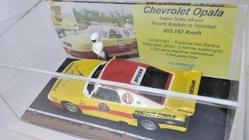 VOLAREBRASIL 1/43 GM CHEVROLET OPALA RECORD CAR SPEED BRASIL 1991 FABIO S. MAYOR