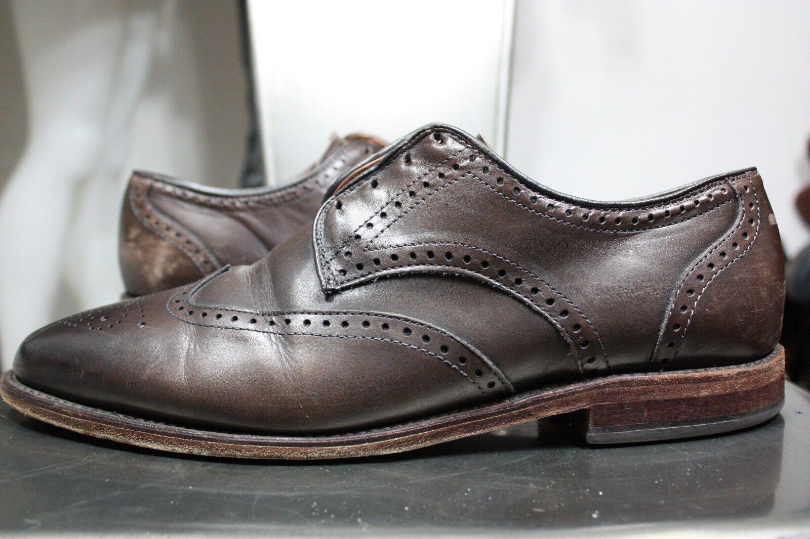 prezzi più convenienti Allen Edmonds Edmonds Edmonds Hinsdale scarpe 10.5 D wing-tip oxfords Marrone leather made in USA  promozioni eccitanti