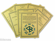 13 SUCCESS Spells BOOK OF SHADOWS PAGE SET wicca print parchment spell BOS money