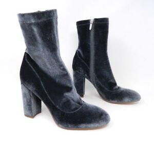 163a23cb8996 Sam Edelman Womens Booties Size 8.5 M Calexa Blue Velvet Ankle Boots ...