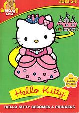 Hello Kitty Becomes a Princess (DVD, 2003) kids children & family G animated fun