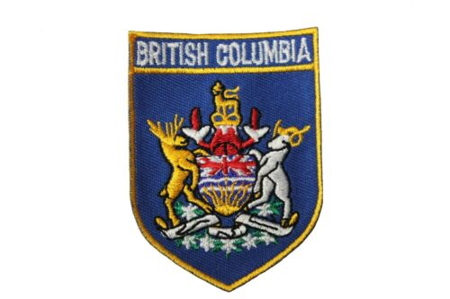 BRITISH COLUMBIA Shield CANADA Provincial FLAG Iron-On PATCH CREST BADGE..New