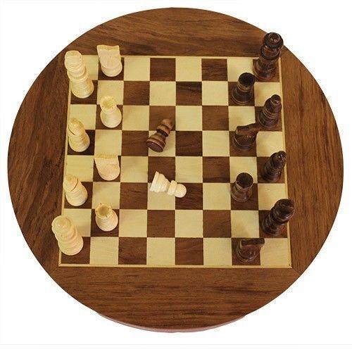 En bois Jeu d'échecs avec deux tiroirs tiroirs tiroirs sous pour pièces-Ensemble a un 30 cm Board aaa7d2