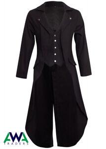 Gothic-Coat-Victorian-Tail-Coat-Men-039-s-Steampunk-Tailcoat-Jacket-Gothic-Clothing