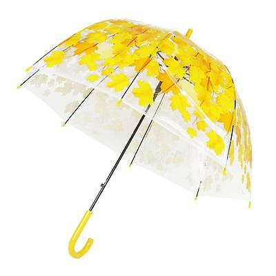 Half Automatic Clear Creative Flower Bubble Dome Shape Rain Umbrella 4 Colors