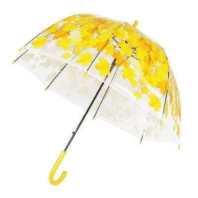 Half Automatic Clear Creative Flower Bubble Dome Shape Rain Umbrella 4 Colors