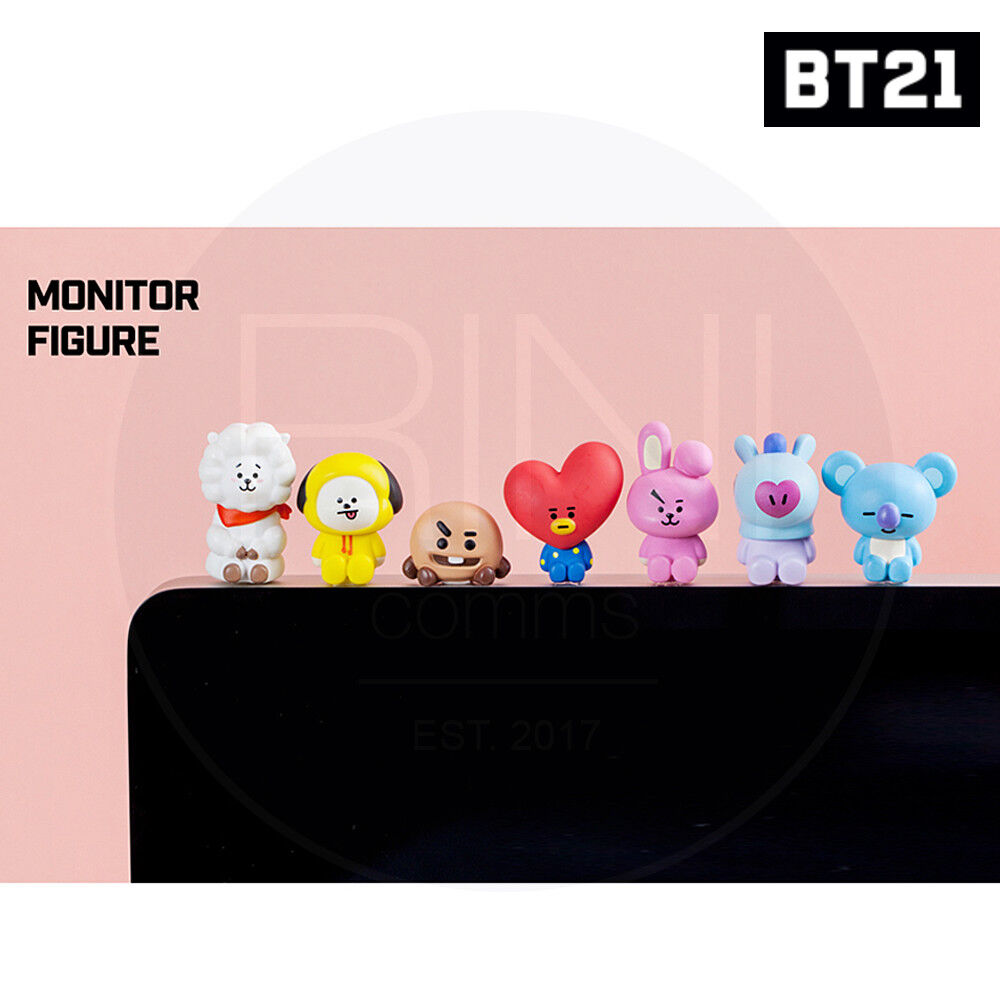 BTS BT21 Official Authentic Goods Monitor Figure 7SET by Royche +Traking Num
