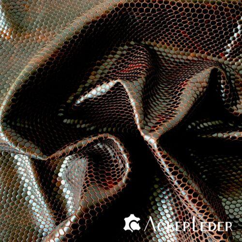 Leder Lammleder Braun Marmoriert 3-D Reptilie Eidechse Muster 2008330 versch Gr
