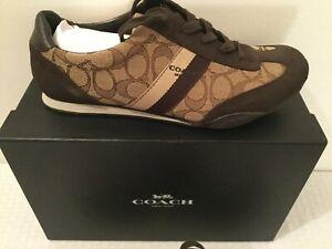 Coach Signature Sneakers 9.5M NIB Brown