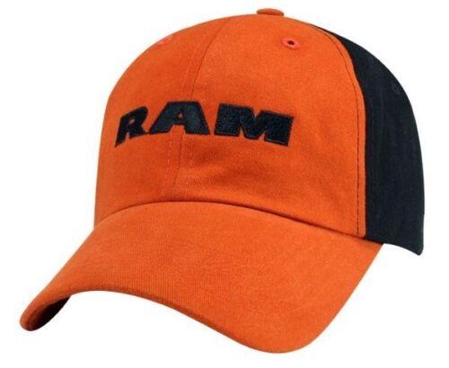 New Dodge Ram Basic Orange /& Black Logo Cap Ballcap Hat One Size