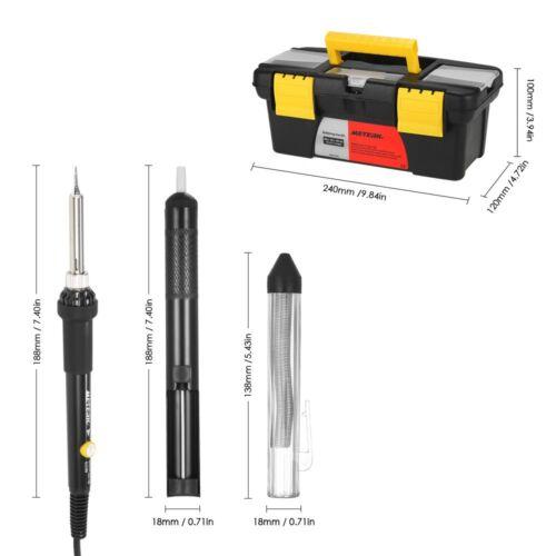 Meterk 14 en 1 Électrique Fer À Souder Kit 60 W Réglable Température De Soudage