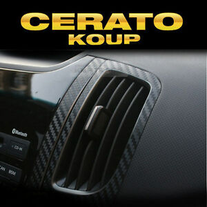 interior air vents carbon decals sticker black 2p for kia. Black Bedroom Furniture Sets. Home Design Ideas