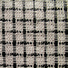 Original Marshall Cabinet Grill Cloth, Black/White Large Checkered