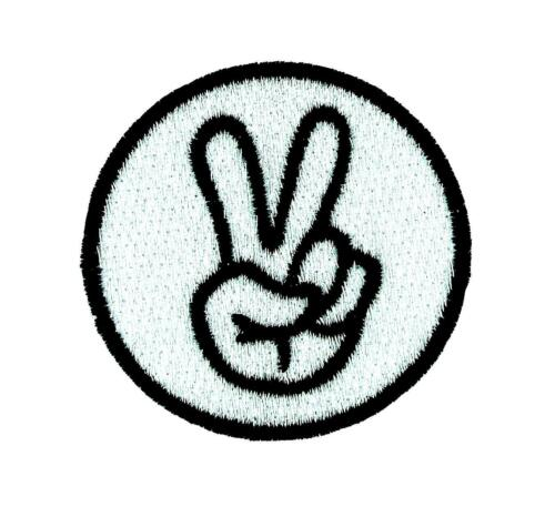 Patch Embroidered Backpack Salut Peace Biker Motorcycle Thermoadhesive Vintage