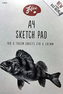 A4 ARTIST SKETCH DRAWING BOOK PAD 100 SHEETS 70GSM  SKETCHING SHEETS PAPER