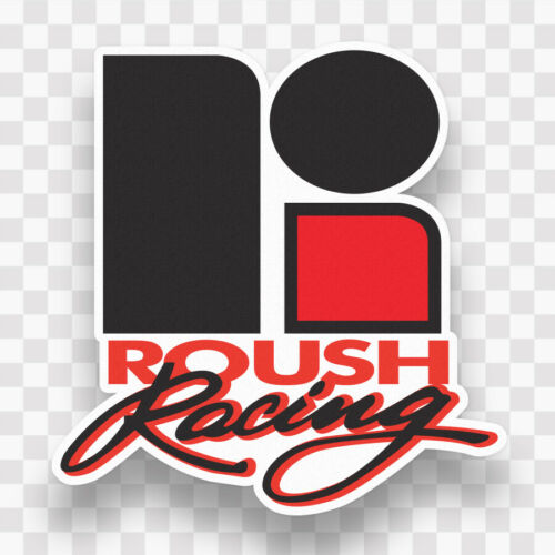 2x ROUSH RACING Decal Stickers Vinyl Mustang Ford Logo Nascar Laptop Window Wall