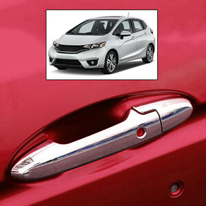 FIT FOR 2014 2015 HONDA FIT JAZZ CHROME SMART KEY DOOR HANDLE COVER TRIM | eBay