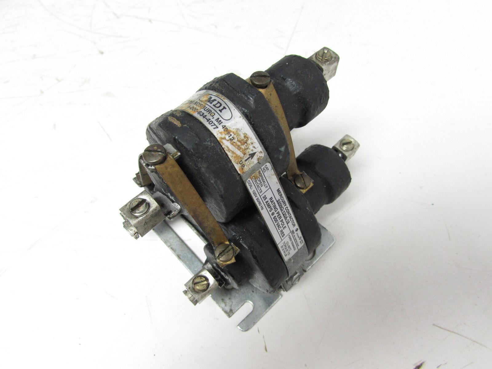 MDI 35A 600VAC RELAY CONTACTOR 335NO-120A-18